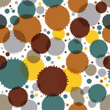 Vector ink splash seamless pattern with rounded overlap shapes a Royalty Free Stock Photo