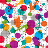 Vector ink splash seamless pattern with rounded overlap transpar Royalty Free Stock Image