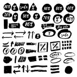 Vector ink stains, spatters. For sale and any kind of design Stock Photography