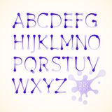 Vector ink uppercase alphabet Royalty Free Stock Photography