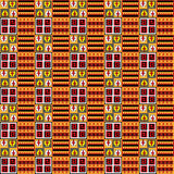 Vector - Inka seamless pattern, color background royalty free stock photography