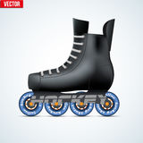 Vector Inline skating. Original Inline skates for Roller hockey. Sporting equipment. Vector illustration isolated on background Stock Images