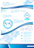 Vector innovation concept template design Royalty Free Stock Photography