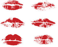 Vector inprint of lips Royalty Free Stock Images