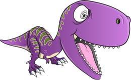 Vector insano de T-Rex del dinosaurio Fotografía de archivo libre de regalías
