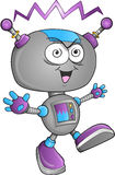 Vector insano del robot Imagen de archivo