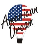 Vector inscription – American dream and Air Balloon Royalty Free Stock Image