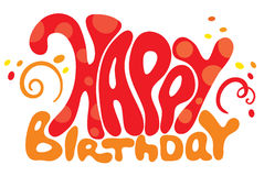 Vector inscription - birthday Stock Image