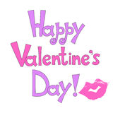 Vector inscription Happy Valentine`s Day stock images