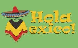 Vector inscription – Hello Mexico Royalty Free Stock Photos