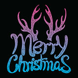 Vector inscription Merry Christmas. Cover title. Drawing by hand. Lettering. The words. Letters. Capital letters. Doodle Royalty Free Stock Photography