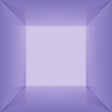 Vector inside of square box. Empty interior space. Vector square box with blank inner space. 3D blue lit empty room interior perspect view. Photobox inside Stock Photography