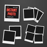 Vector Instant Photo. Photorealistic Vector EPS10 Retro  Stock Photos