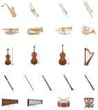 Vector Instrumenten van het Orkest royalty-vrije illustratie