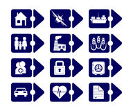 Vector insurance icons Royalty Free Stock Photography