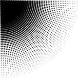 Vector intensive vermindernde Halbtonpunkte in der Richtung der Rundung lizenzfreies stockbild