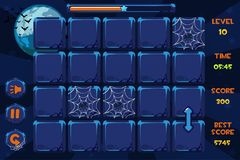 Vector interface Match3 Games and buttons in halloween style, GUI Graphic Assets. Vector interface Match3 Games and vector buttons in halloween style, GUI stock illustration