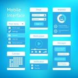 Vector interface template design Stock Photos