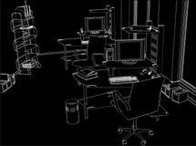 Vector interior 01 del sitio de la oficina stock de ilustración