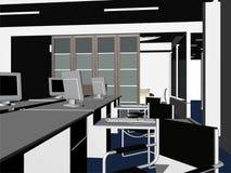 Vector interior 09 de los cuartos de la oficina Foto de archivo libre de regalías