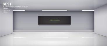 Vector interior with black screen. Vector illustration of interior with black screen Royalty Free Stock Image