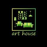Vector interior home furniture design illustration Royalty Free Stock Photos