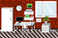 Vector interior office room in modern style Stock Image