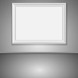 Vector interior with rectangle empty frame Stock Photography