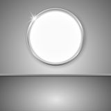 Vector interior with round empty frame Royalty Free Stock Photos
