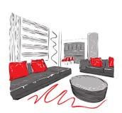 Vector interior sketch design Royalty Free Stock Image