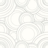 Vector interlocking circles repeat tile pattern. Tile repeatable shape of overlapping circles Stock Photos