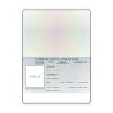 Vector international open passport blank template.  Stock Image