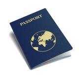 Vector international passport with globe. Royalty Free Stock Photography