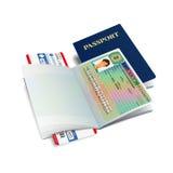 Vector international passport with Luxembourg visa Stock Images