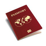 Vector international passport red cover isometric 3d template.  stock illustration