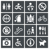 Vector International signs icon set Stock Image