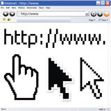 Vector internet browser Stock Images
