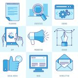 Vector internet business infographic Stock Photography
