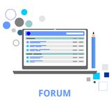 Vector - internet forum Royalty Free Stock Photo
