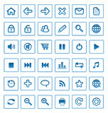 Vector internet icons. Royalty Free Stock Photo