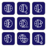 Vector internet icons Royalty Free Stock Images