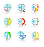Vector internet icons. Globe set. Simply change Royalty Free Stock Images