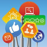Vector internet marketing concept Royalty Free Stock Photo