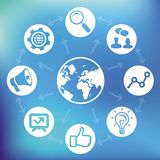 Vector internet marketing concept Royalty Free Stock Images