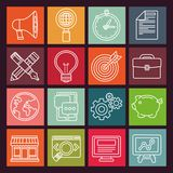 Vector internet marketing icons in flat style Royalty Free Stock Photography