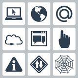 Vector internet-related icons set Stock Photo