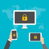Vector internet security concept Stock Image