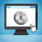 Vector internet security concept Stock Photography