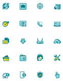 Vector internet service provider icon set Royalty Free Stock Image
