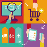 Vector internet shopping infographics Stock Photos
